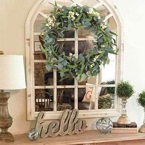 New Artificial Eucalyptus Wreath 20""